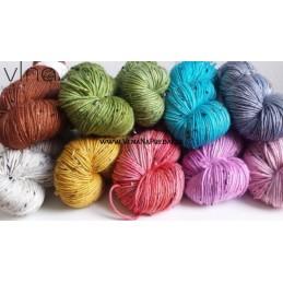 Ručne farbená vlna Tweed...