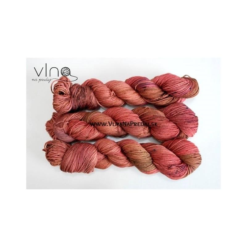 Ručne farbené Merino & hodváb 100g 230m
